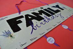 nástěnný rodinný kalendář