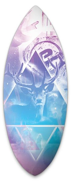 Exile Skimboard Graphics. Richard de Ruijter design
