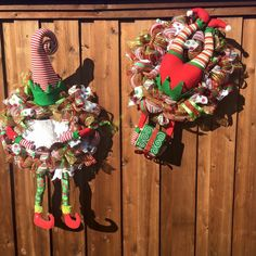 A personal favorite from my Etsy shop https://www.etsy.com/listing/251266981/elf-wreath-christmas-wreath-christmas
