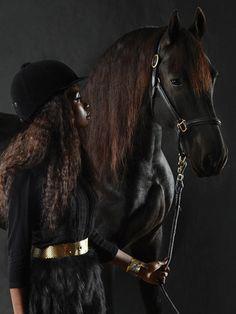 Black is Beautiful Cute Horses, Beautiful Horses, Black Is Beautiful, Beautiful People, Beautiful Pictures, Black Cowgirl, Black Cowboys, Black Girl Magic, Black Girls