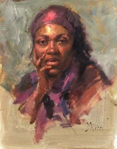 Young girl in Purple, Oil, 18x14 2013  Jacob Dhein