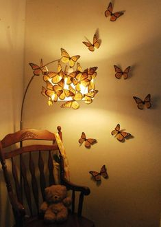 Mega Monarchs 7 inch Wingspan - Set of 20 Mega Monarchs 7 pollici Wingspan - Set di 20 Cute Room Decor, Unique Wall Decor, Quirky Decor, Aesthetic Room Decor, Room Ideas Bedroom, Bedroom Lamps, Dream Rooms, My Room, Room Inspiration