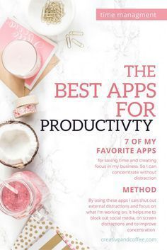 Some of the best productivity apps for bloggers to save you time and to help stop you getting distracted whilst working on building your empire. via /creativencoffee/