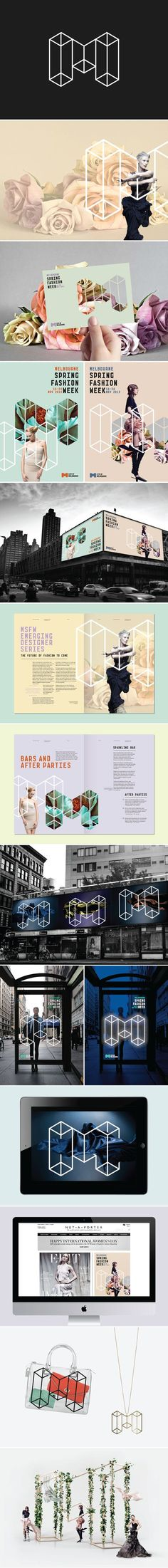 Designed at Landor SydneyWe were asked to create an identity for Melbourne's 'Premier Events' (e.g. Melbourne Spring Fashion Week, Melbourne Music Week, etc) that would promote the city's events, whilst giving recognition to its owner and manager, the '…