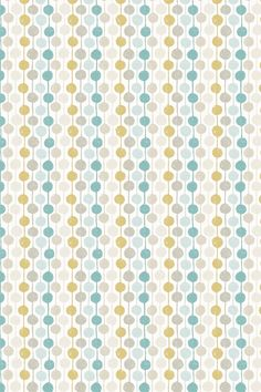 Taimi (120366) - Scion Fabrics - An all over fabric design featuring delightful stripes and circles. Shown here in the seaglass, chalk and honey. Other colourways are available. Please request a sample for a true colour and texture match.