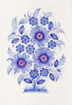 FOLK ART FLOWERS -
