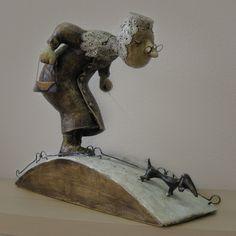 """Кукольная скульптура """"Таврический сад"""""""
