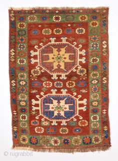 Early 19th Century Unusual Anatolian Probably Konya Yastık.It's in Good Condition.Size 65 x 90 Really Few Whites are cotton.Completely Original.