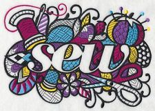 Embroidered Crafty sew quilt block, fabric,sew,embroidery machine,sewing machine
