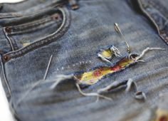 DIY Floral Denim Patches – How To Patch Your Jeans | Free People Blog