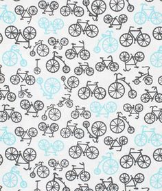 Michael Miller Bicycles Haze - onlinefabricstore.net