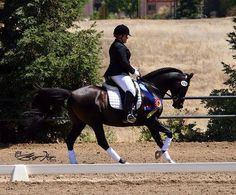 ARABIAN SPORT HORSE :: Racheal Tuscher and her Arabian stallion LL DARKH IMAGE (BC Classic Image x Velvet Darkness) who were named CHAMPION in the First Level 14 & Under at the California Dressage Society's Junior/Young Rider Championships.  http://ashm.co/news/?p=307