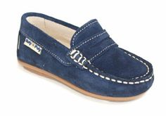Roly Poly Shoes & Boots. Mocasín niño de piel serraje. Children Footwear.