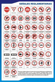 Señales de Transito reglamentarias