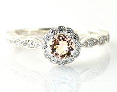 morganite engagement ring (don't get me morganite.)