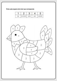 Printable Preschool Worksheets, Kindergarten Math Worksheets, Preschool Activities, Kids Worksheets, Spanish Lessons For Kids, English Worksheets For Kids, Preschool Colors, Preschool Writing, Grande Section