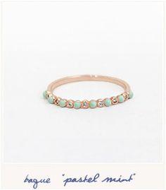 * Pastel mint ring