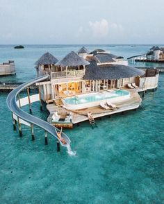 Check out our 20 stunning hotels in striking locations Overwater Bungalow in Maldives. 20 Amazing Hotels In Striking Locations You Must Visit. Vacation Places, Vacation Destinations, Dream Vacations, Dream Vacation Spots, Maldives Travel, Maldives Resort, Maldives Honeymoon, Visit Maldives, Maldives Bungalow