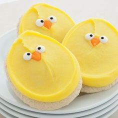 Cheryl's Cookies - sugar cutouts with buttercream frosting...on another note: A little chick like this led me to find the Love of my Life!