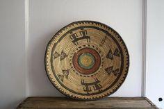 vintage shallow basket bowl by littlebyrdvintage on Etsy, $26.00