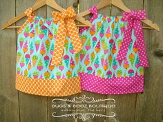 Pillowcase Dress*** Same main fabric with different trim---how different the dresses look!
