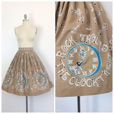 50s Rock Around the Clock Skirt / 1950s by CheshireVintageShop
