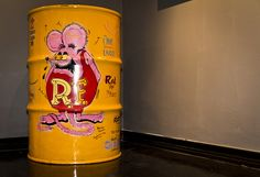 Rat Fink custom painted 55 gallon oil drum