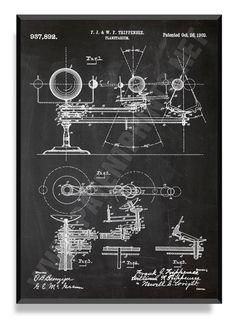 Planetarium 1909 Patent Print