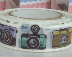 Colorful Camera  Japanese Die Cut Washi Tape Masking Tape Deco Tape Paper Tape TM00249