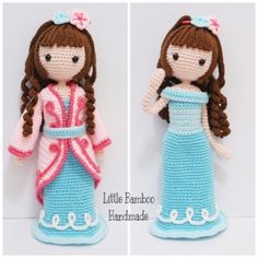 Cheryl In Ball Gown And Traditional Costume amigurumi pattern by Little Bamboo Handmade