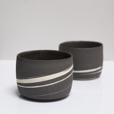 Black and White Marble Bowls www.clothandgoods.com