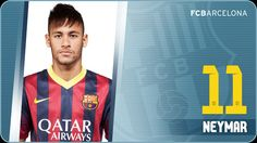 Neymar da Silva Santos Júnior signed for Barça on June 3rd 2013 after an agreement between the Club and FC Santos. The then 21-year-old was Barça's first signing of the 2013/14 season. Born on February 5th 1992 at Mogi das Cruzes, in Brazil, Neymar began his footballing career at Santos in 2003 when he was only 11 years old and he quickly began to stand out in the club's lower teams before making his debut with the first team in 2009.