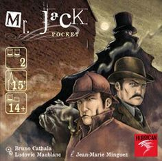 Mr. Jack Pocket: Fabuleux jeux pour 2 joueurs, exploitant des mécaniques d'une finesse et d'une limpidité rares!