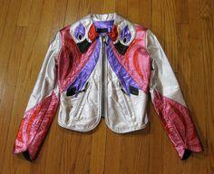 New Vintage East West Musical Instrument Metallic Homage Leather Jacket
