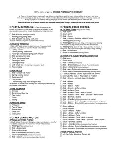 1000 Images About Wedding Photography Tips Checklist On