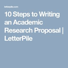 Develop A Research Proposal  Sample Proposals  Research Resource