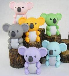 Amazon.com: Japanese Iwako Eraser Set - Koala Bear (six colors): Toys & Games
