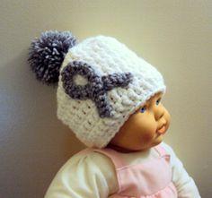 Baby Crochet Hat Beanie Knit New Born - Baby Hat Brain Cancer Awareness Gift Ideas 0-12 Months  by GrahamsBazaar