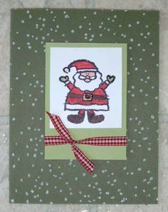 crayon christmas santa by caralina - Cards and Paper Crafts at Splitcoaststampers