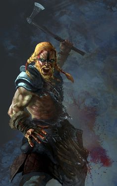 How come the Vikings became such great warriors? But bear in mind that the Vikings did not win all the battles. Fantasy Warrior, Fantasy Rpg, Medieval Fantasy, Dark Fantasy, Viking Berserker, Art Viking, Viking Warrior, Celtic Warriors, Great Warriors