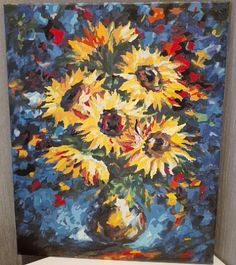 "Картина ""Подсолнухи""/ The painting ""Sunflowers""/ Handmade, DIY"