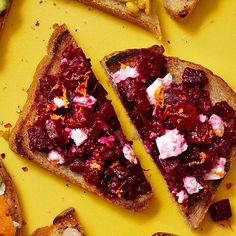 Beet & Feta Smash -- Give avocados a break! This bright smash is perfect for breakfast, lunch or dinner.