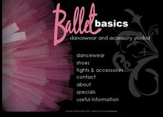 Beautiful revamp for Ballet Basics front page... www.balletbasics.co.za