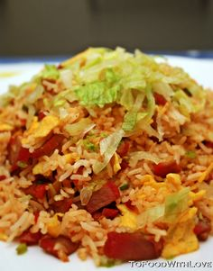 To Food with Love: Char Siu Fried Rice with Lettuce