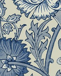 Tapet Pink & Rose Indigo från William Morris & Co