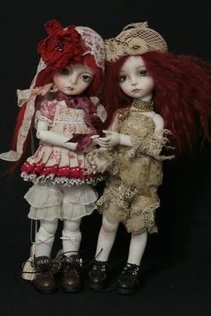 Gian on the left and modigli on the right by heliantas