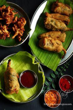 Paneer Stuffed Mirchi Bajji/Pakoda Recipe ~ How to Make Stuffed Mirchi Pakoda