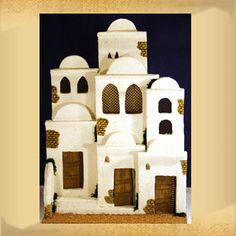 Housing Composition No. Class Decoration, Slab Pottery, Holy Night, Miniature Houses, Mixed Media Canvas, Fairy Houses, Cribs, Christmas Decorations, Diy Crafts