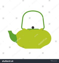 Kettle vector icon kitchen handle appliance Cartoon tea pot boil Utensil water cooking food Flat household equipment si in 2020 Kitchen handles Kettle Vector icons