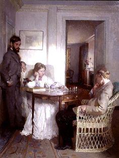 Sir William Orpen (Irish, 1878-1931) - The Chess players,1902